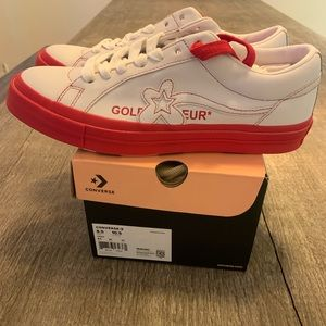 Converse White & Red Golf le Fleur* OX Sneakers